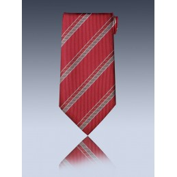 Cravate club VIP bordeaux à élastique
