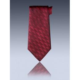 Cravate à crochet hexagone bordeaux n°24 (15CC24)
