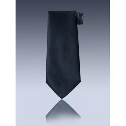 Cravate à crochet unie rayé noire n°34