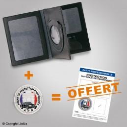 PACK PROMO Porte-carte 3 volets + médaille + carte pro PROTECTION