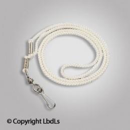 Cordon sifflet nylon blanc