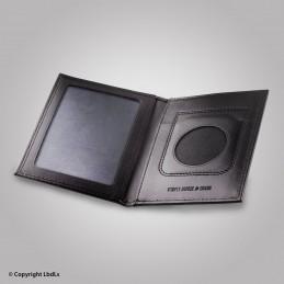 Porte carte médaille et carte de transport ouvert. portef.