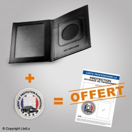 PACK PROMO Porte-carte 2 volets + médaille + carte pro PROTECTION