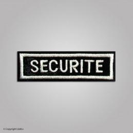 Ecusson rectangle SECURITE noir lettres BLANCHES VELCRO