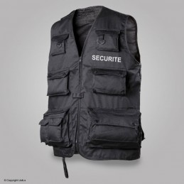 Gilet Reporter multipoches siglé SECURITE