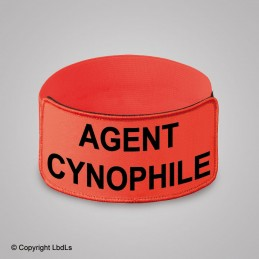 Brassard EXPERT ORANGE brodé AGENT CYNOPHILE NOIR élastique orange réglable