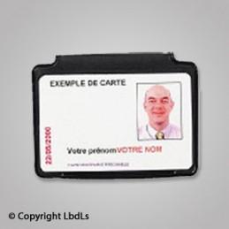 Porte badge aimanté 86 x 54 horizontal  BADGES ET CARTE PRO à 4,01€