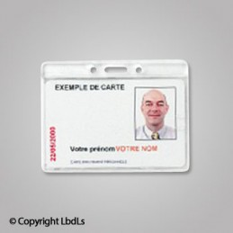 Porte badge rigide pour carte 86 x 54 mm