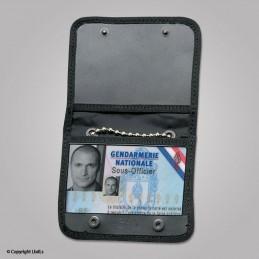 Porte badge 86 x 54 mm en cordura avec chaînette