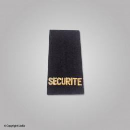 Fourreau noir SECURITE lettres dorées, la paire