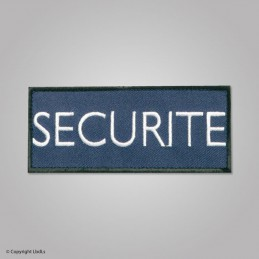 Bandeau SECURITE 12 X 5 cm marine lettres blanches