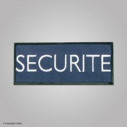 Bandeau SECURITE 12 X 5 cm marine lettres blanches