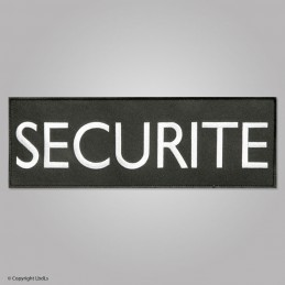 Bandeau noir brodé SECURITE lettres blanches 30 x 10 cm