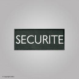 Bandeau noir brodé SECURITE lettres blanches 12 X 5 cm