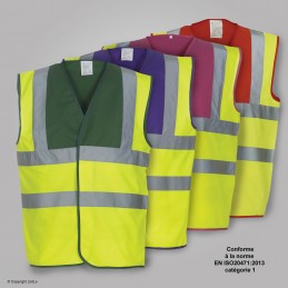 Gilet fluo FIRST bicolore - EN20471 categorie 1