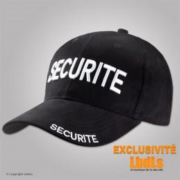 Casquette brodée noire SECURITE 3D