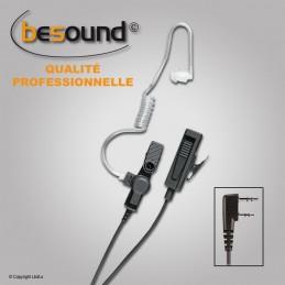 Micro main oreillette BESOUND avec prolongateur pour Kenwood TK3401/3360 NX320