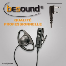 Micro main oreillette BESOUND forme D pour Kenwood TK3301/3302/3160