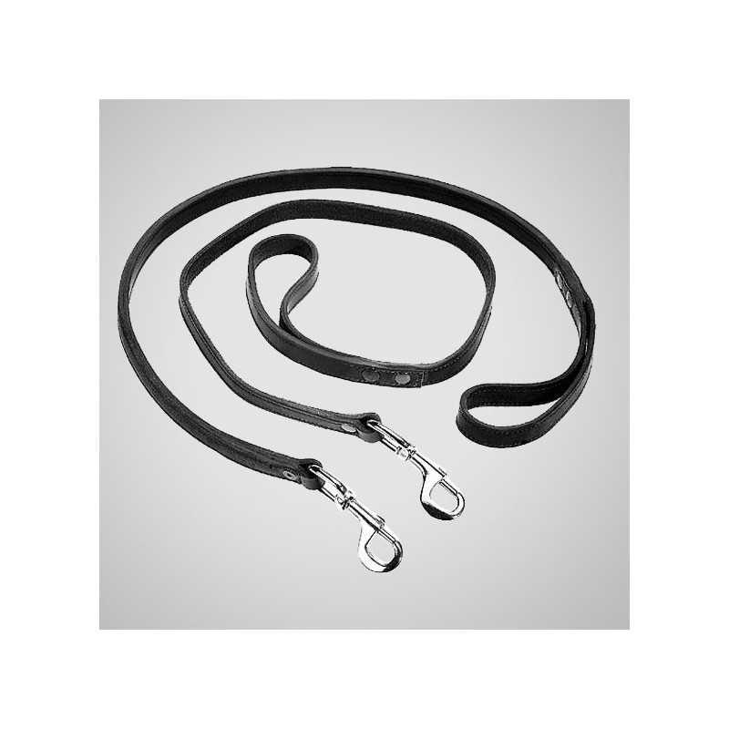 Laisse doublée 3 points 2M40 Scorpion avec anneaux  EQUIPEMENTS CANINS à 64,00€