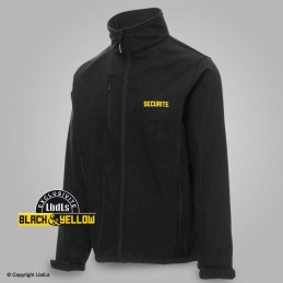 Softshell noir siglée SECURITE jaune