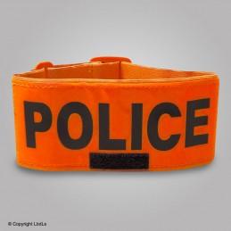Brassard POLICE fluo 7 cm réglable
