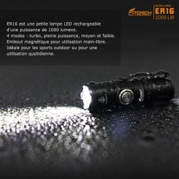 Lampe FITORCH ER16 1000 Lumens