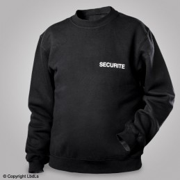 Sweat-shirt noir siglé SECURITE blanc