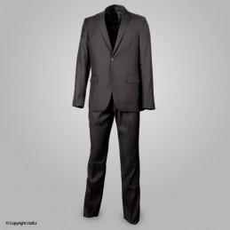 Costume noir MEMPHIS : veste + pantalon (65% poly / 35% viscose)