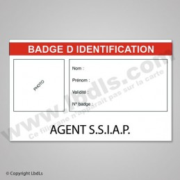 Badge AGENT SSIAP 8,6 X 5,4 CM
