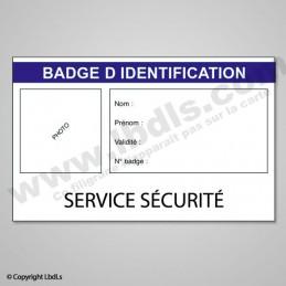 Badge SERVICE SECURITE