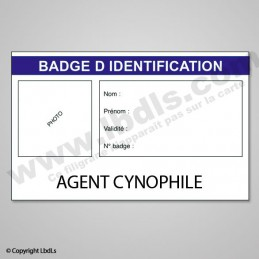 Badge AGENT CYNOPHILE 8,6 x 5,4 cm