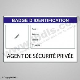 Badge AGENT DE SECURITE PRIVEE