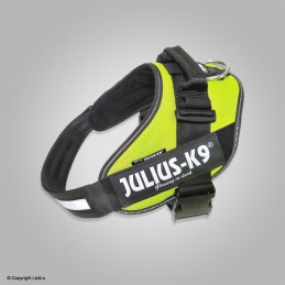 Harnais IDC-POWER JULIUS K-9 jaune fluo