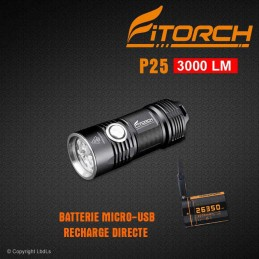 Lampe FITORCH P25 - 3000 LM
